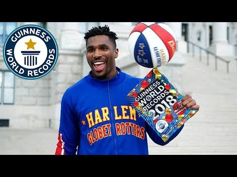 Harlem Globetrotters - Highest Upwards Basketball Shot - GWR Day