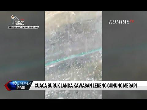 Hujan Es Landa Kawasan Lereng Gunung Merapi Wilayah Magelang