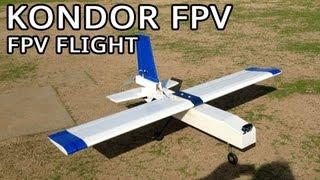 Kondor FPV plane - FPV flight around the Apollo Field in