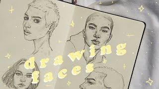 How I Draw Faces | Sketchbook Sesh #1