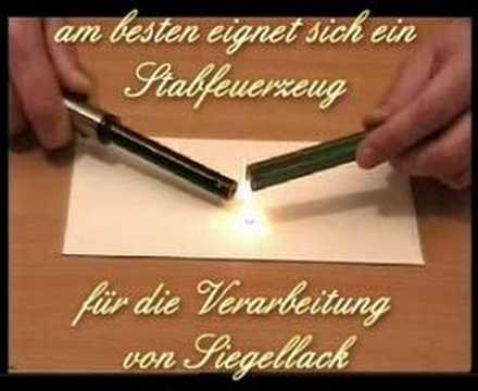wie man siegellackstangen verarbeitet bei udig.de