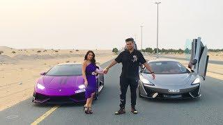 Natalia & Rashid SUPERCAR DRAG RACE!!