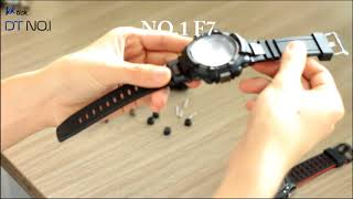 How to change the straps of NO.1 F5, F6, F7?
