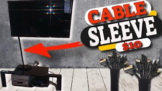 How To Hide Your TV Cable Wires With The  Cable Management Sleeve Review And Unboxing