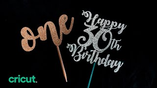 How to make a cake topper using Cricut | EASY Tutorial | Beginners
