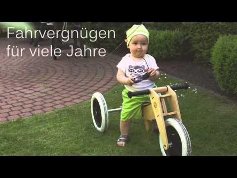 Linus mit seinem ersten Laufrad von Hans Natur