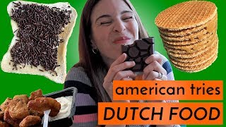 American Tries Dutch Food In The Netherlands!!