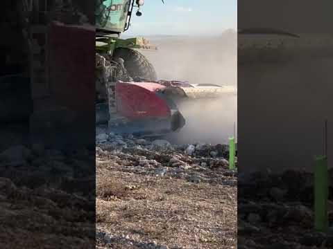 MC STONE CRUSHER, trabajos en plantacion trufera FUENTELISENDO BURGOS SPAIN