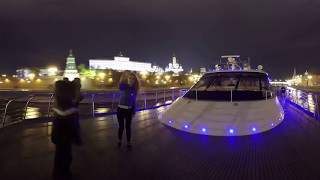 360° Video   Beautiful Moscow at night