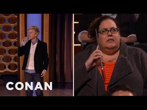 Ellen DeGeneres Surprises Conan's Audience  - CONAN on TBS