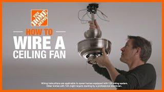How to Wire a Ceiling Fan | Lighting and Ceiling Fans | The Home Depot