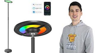 Smart Floor Lamp Alexa Google Home // Torkase WiFi Smart LED RGB Floor Lamp
