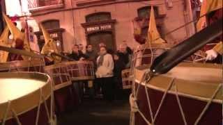 preview picture of video 'Viernes Santo 2012. Cofradía de la Flagelación de Jesús de Logroño.'