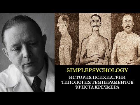История психиатрии. Типология темпераментов Эрнста Кречмера.