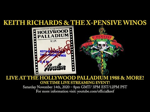 Keith Richards & The X-Pensive Winos – Live at the Hollywood Palladium 1988