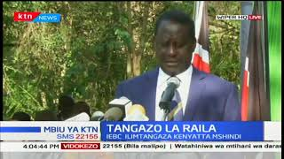 Raila Odinga gives thanks to the millions of Kenyans who heeded to poll boycott