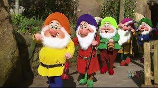 Seven Dwarfs off to work in Mine Train ride at Walt Disney World