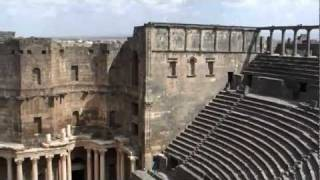 preview picture of video 'Top of the Roman Theatre in Bosra'