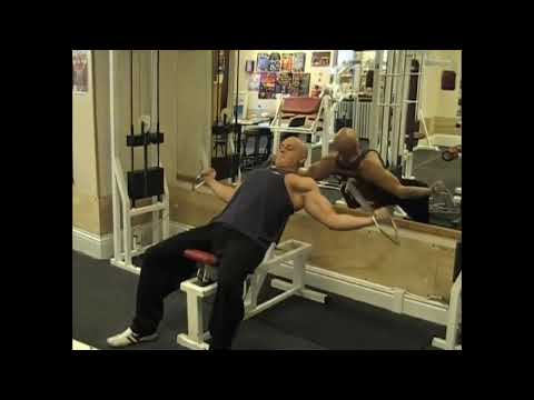 Cable Curl On Incline Bench