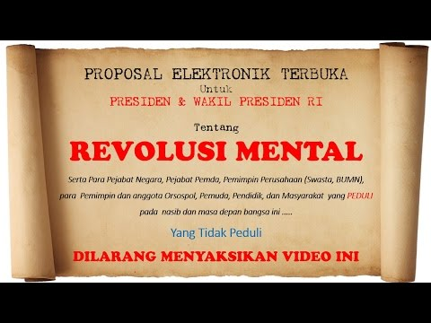 PROPOSAL VIDEO  REVOLUSI MENTAL