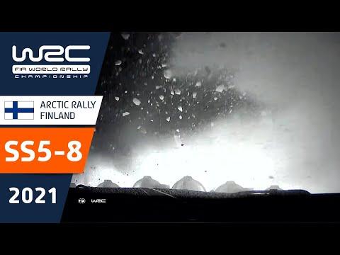 WRC 2021 第2戦のラリーフィンランド SS5-SS8のハイライト動画