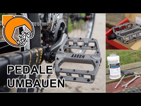 How-To: Fahrrad-Pedale tauschen (FlatPedals von AaronParts)