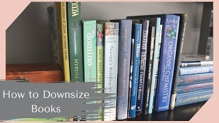 How I Declutter Books   Downsizing Your Personal Library