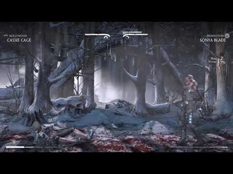 Mortal Kombat X Cassie Cage vs Sonya Blade