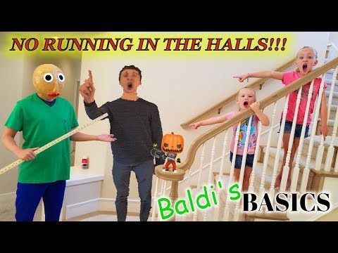 Baldi's Basics In Real Life Hello Neighbor Statues Toy Scavenger Hunt! Principal Catches Us!!!