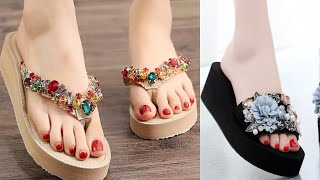 FLIP FLOP SANDAL SHOES COLLECTION NEW LATEST CASUAL SLIPPERS FOOTWEAR  DESIGN FOR WOMENS
