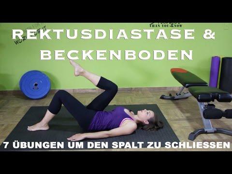 Rektusdiastase & Beckenboden / 7 Übungen um den Spalt zu schließen / Beckenbodentraining