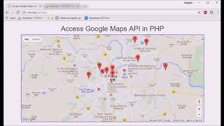 Google map api in php/mysql part 5: show marker on google map from database using json