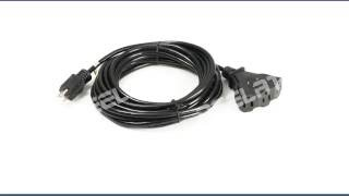 25 ft 5-15 3-Outlet Extension Cord--LA004H/LA052H