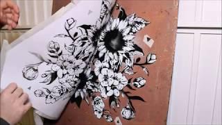 Flower Graffiti Stencil
