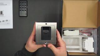 AE-601Z2 Unterputz Fingerprint Türöffner / Fingerabdruck Scanner / Zugangs-Controller