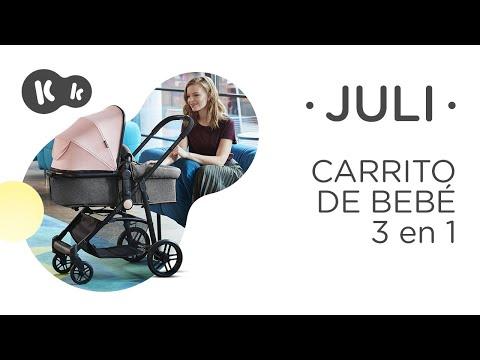 Cochecito 3 en 1 Juli Rosa Kinderkraft