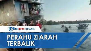Perahu Ziarah yang Angkut 12 Guru di Ogan Ilir Terbalik, 4 Orang Tewas Tenggelam