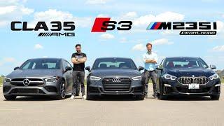 [Throttle House] 2020 Mercedes-AMG CLA 35 vs Audi S3 vs BMW M235i Gran Coupe // Face-Off