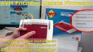 AVM FritzBox Update online und als Datei runterladen und installieren