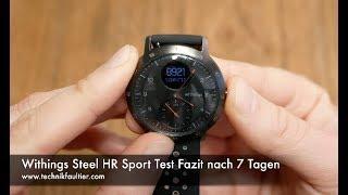 Withings Steel HR Sport Test Fazit nach 7 Tagen + Verlosung