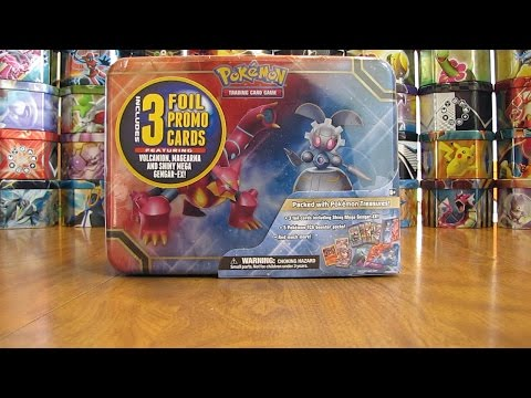 Pokemon 2016 Collector's Chest Tin Opening