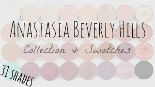 Anastasia Beverly Hills Single Shadow Collection & Swatches // 31 Shades