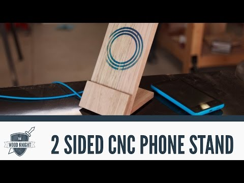 CNC: 2-sided machining to make a wireless phone charger/stand - 061