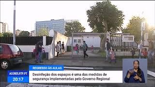 Governo dos Açores implementa medidas de segurança nas Escolas em relação à COVID-19