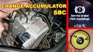 Changing SBC Brake Pressure Accumulator in Mercedes W211 CLS / Error C2131 Replacing SBC Accumulator