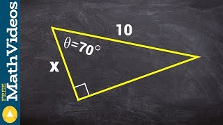 PC Unit 3 How to find the missing side of a triangle using cosine