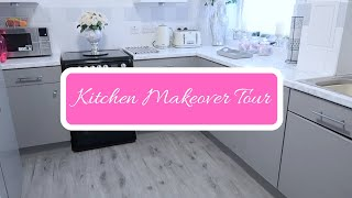 DIY KITCHEN MAKEOVER TOUR | HOME DECOR | USING CONTACT PAPER