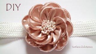 Цветок из ленты Повязка для девочки Светлана Золотарева