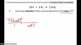Stoichiometry Practice Test Answers