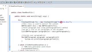 Java - How to read word file using Apache POI